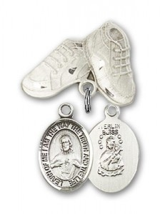 Baby Badge with Scapular Charm and Baby Boots Pin [BLBP0951]