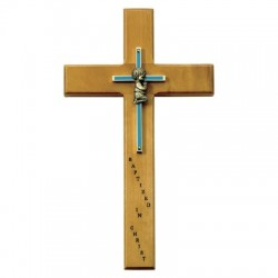 Baby Boy Baptism Wall Cross - 10 inch [SNCR0045]