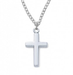 View all baby pendants catholic faith store baby cross pendant silvertone or goldtone mvb1003 aloadofball Gallery