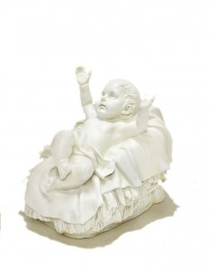 Baby Jesus in Cradle - White 27 [RM1751]