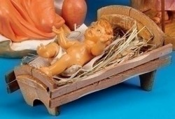"Baby Jesus with Manger Set - 18"" scale [RMCH048]"