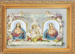 Baby Room Blessing Antique Gold Framed Print [HFA0086]