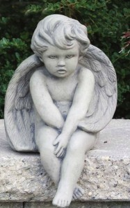 Baby Seated Angel Statue 12 Inches [MSA0053]