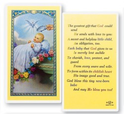 Baby's Baptismal Laminated Prayer Cards 25 Pack [HPR397]