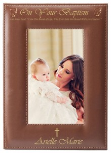 Baptism Photo Frame Personalized Vertical [SN2005]