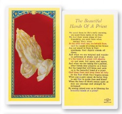 Beautiful Hands of A Priest Laminated Prayer Cards 25 Pack [HPR719]