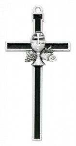 Black First Communion Wall Cross 5 inch [MVC7543]