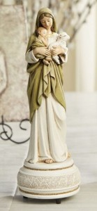 Blessed Mother and Child Musical Figurine 9 Inch High [CBST106]
