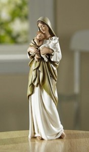 Blessed Mother and Chile 7 Inch High Statue [CBST105]
