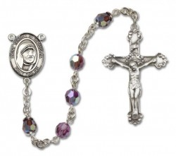 St. Mother Teresa of Calcutta Sterling Silver Heirloom Rosary Fancy Crucifix [RBEN1005]