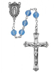 Blue Crystal Rosary [MVRB1154]