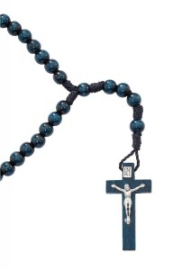 Blue Wood 6mm Rosary [MV1067]