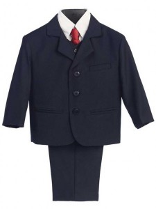 Boy's 5 Piece Navy Suit [LBS0107]
