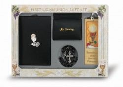 Boy's 6 Piece Chalice Deluxe Communion Gift Set [HC5289]