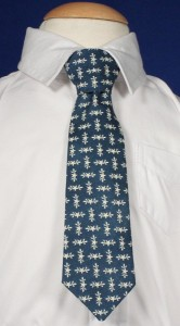 Boys Blue Tie with Star Pattern [TIE101]