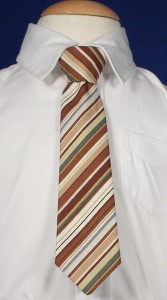 Boys Brown Striped Tie [TIE100]