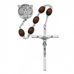Boy's Confirmation Brown Bead Rosary [MVRB1010]