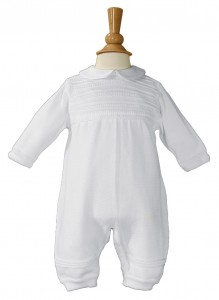 Boys Cotton Knit Baptism Coverall [LTM072]