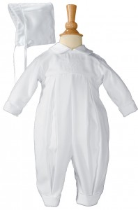 Boys Irish Baptism Coverall with Embroidery Shamrock Cluster [LTM041]