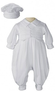 Boy's Long Pant Romper with Windowpane Embroidery [LTM1015]