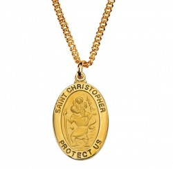 Boys Saint Christopher Goldtone Medal [MV2013]