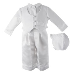 Boy's Long Sleeve Striped Christening Pant Set [HBB1020]