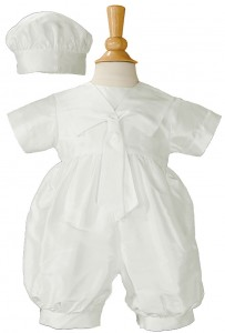 Boys Silk Dupioni Romper with Sailor Collar [LTM017]