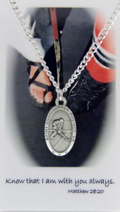 Boys St. Christopher Ice Hockey Medal with Prayer Card [PC0030]