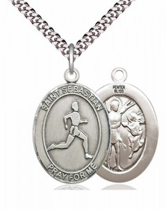 Men's St. Sebastian Track and Field Medal [EN6307]