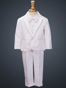 Boy's White Tuxedo with Vest and Bowtie [LBS0129]