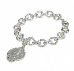 Bracelet - Extra Heavy Sterling Silver with Miraculous Charm [RB3456]