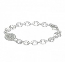 Bracelet - Sterling Silver with Miraculous Charm [RB3457]