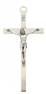 Brass Crucifix 8 inch Flat Polished [CRX3873]