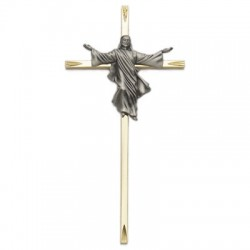 "Brass Risen Christ Crucifix - 7""H   [SNCR1002]"