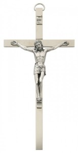 Brass Wall Crucifix 10 inch Flat Polished [CRX3872]