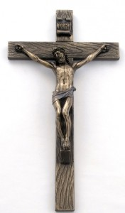 Bronzed Resin Wall Crucifix - 10 Inches [GSCH1093]