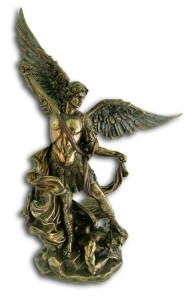 Bronzed Resin St. Michael Statue - 10 Inches [GSCH10052]