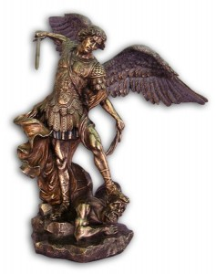 Bronzed Resin St. Michael Statue - 29 Inches [GSCH1005]