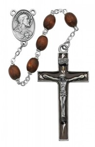 Brown Enamel Crucifix Rosary [MVRB1033]