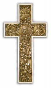 Byzantine True Church Wall Cross Antiqued 12 inch [CR4023]