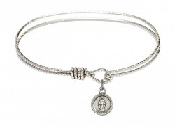 Cable Bangle Bracelet with a Miraculous Charm [BRC2342]
