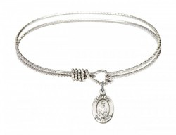 Cable Bangle Bracelet with a Saint Louis Charm [BRC9081]