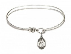 Cable Bangle Bracelet with a Saint Marina Charm [BRC9379]