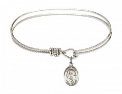 Cable Bangle Bracelet with a Saint Paul the Apostle Charm [BRC9086]