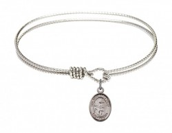 Cable Bangle Bracelet with a San Juan de la Cruz Charm [BRC9232]