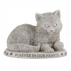 "Cat Figure Memorial Garden Stone 6.5"" High [CBSD012]"