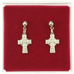 Celtic Cross Dangle Earrings [MVER1014]