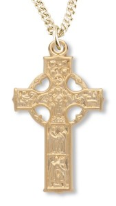 Celtic Cross Gold Plated 3 sizes [HMCR1009]