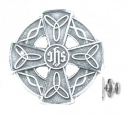 Celtic Design Cross Lapel Pin Sterling Silver [HMLP009]