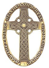 Celtic Design May The Spirit of the Lord Rest Upon This House Wall Cross - 3 inches [TCG0091]